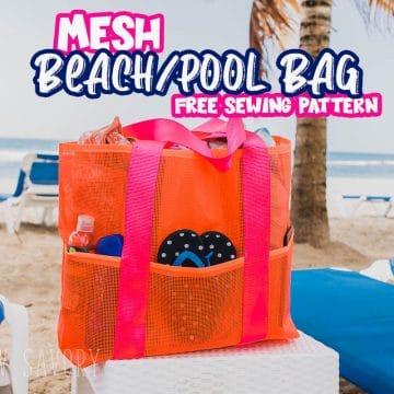 Free Mesh Beach Bag sewing pattern