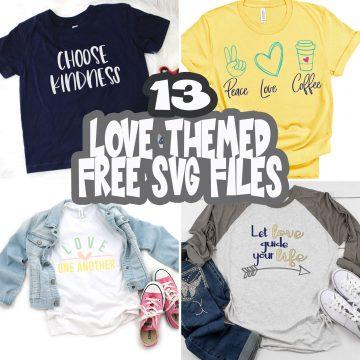 Love SVG files free list