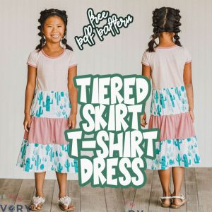 Tiered skirt dress pattern and tutorial