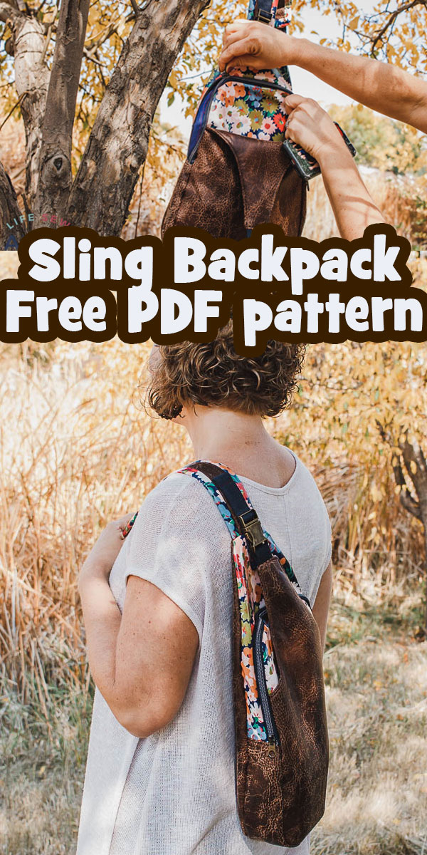 Use this sling backpack free pattern to create an amazing one shoulder sling bag. This bag is perfect for carrying all the things I need for daily outings. Grab the free pdf and get sewing.