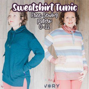 Womens Sweatshirt Tunic  Free Pattern