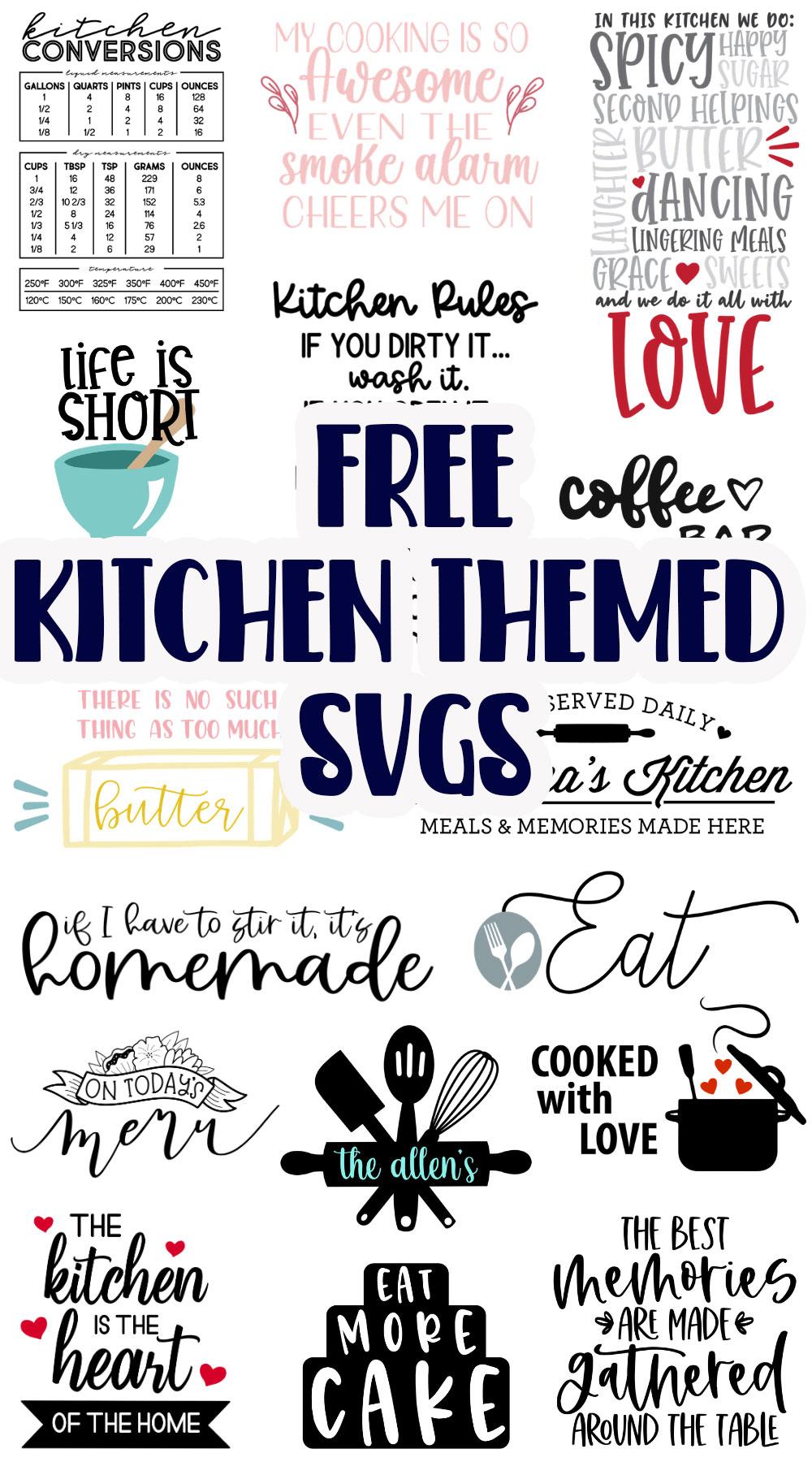 Kitchen Themed SVG files FREE - Life Sew Savory
