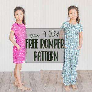 Kids Romper Free Sewing Pattern