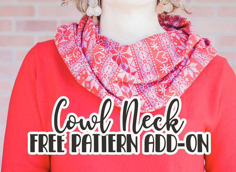 cowl neck free sewing pattern