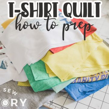 how to cut tshirts for a shirt quilt