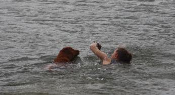 Leo and Val swim team
