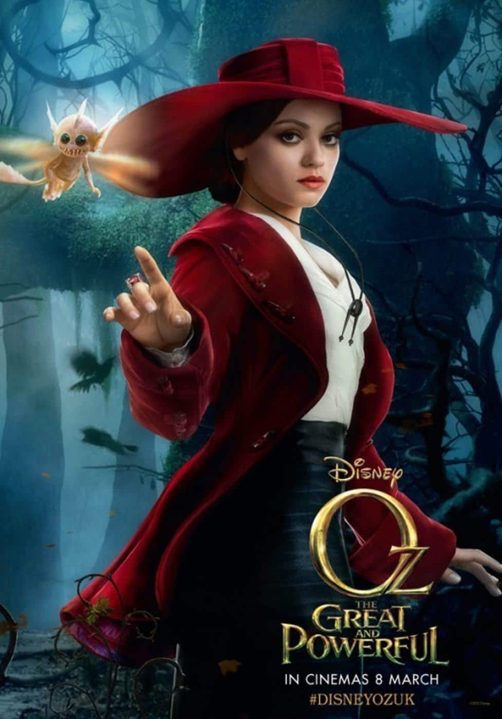 """Image: 0152722777, License: Rights managed, 26-1-2013 """"Oz the Great and Powerful"""" film posters Pictured: Mila Kunis, Model Release: No or not aplicable, Credit line: Profimedia-Red Dot, Planet"""