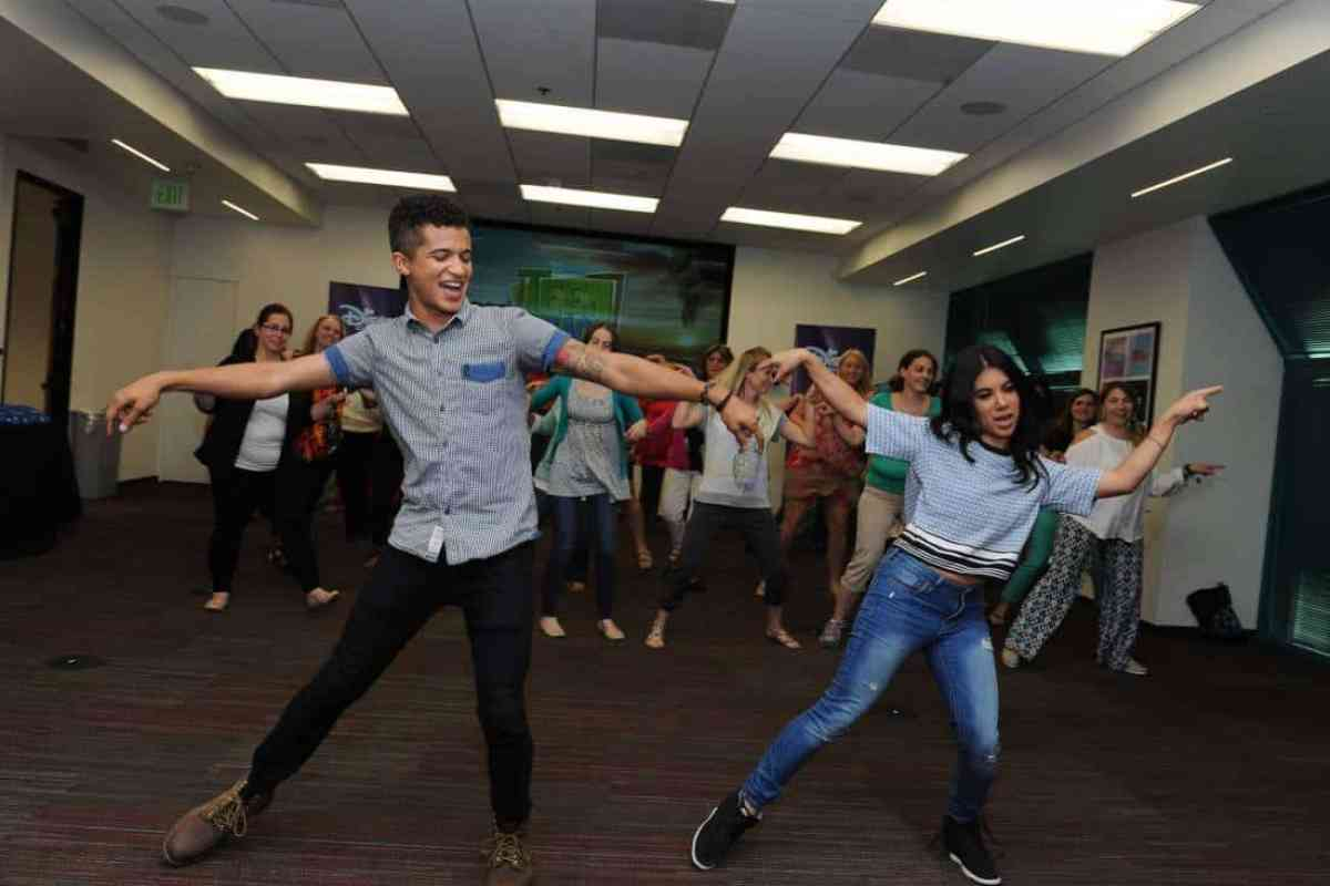 """TEEN BEACH 2 - """"Teen Beach 2"""" stars Chrissie Fit and Jordan Fisher participate in a Mom blogger event to celebrate the movie's June 26, 2015 premiere. (Disney Channel/Valerie Macon) JORDAN FISHER, CHRISSIE FIT"""