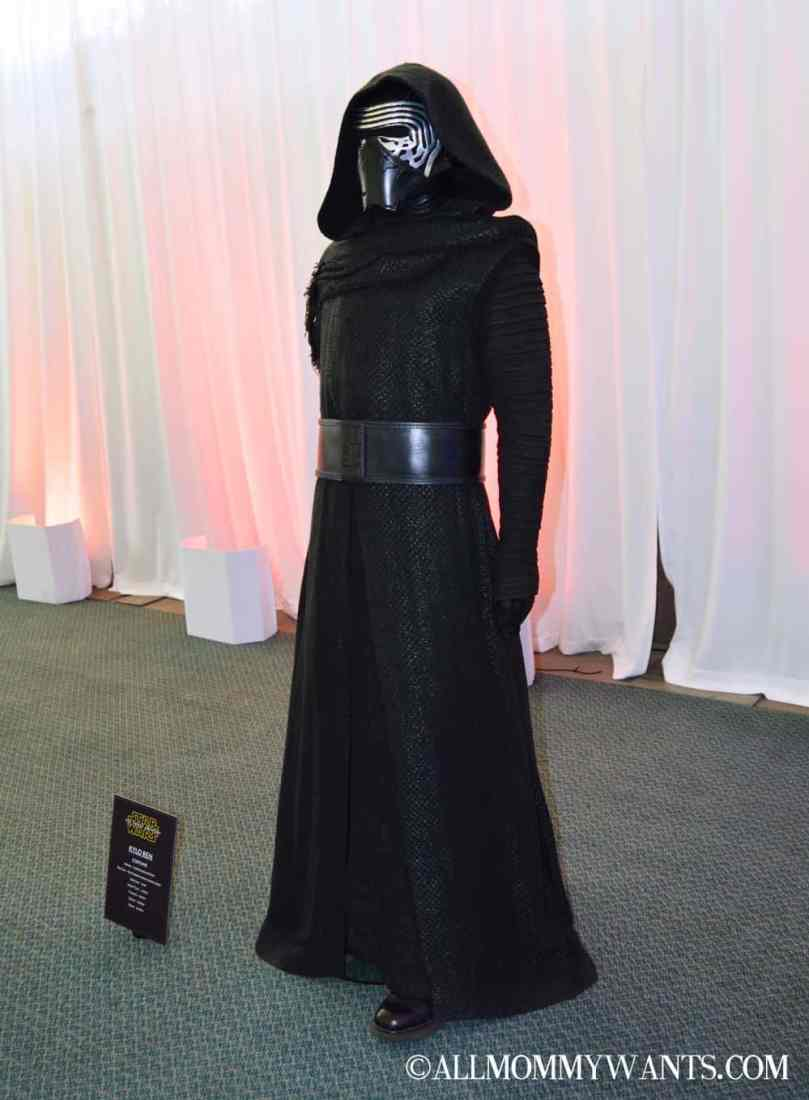 """Kylo Ren's robes and mask. Kylo was originally supposed to wear the now Captain Phasma armor, but it didn't make sense for the character as he is a bit """"rough around the edges"""" and obsessed with Darth Vader."""