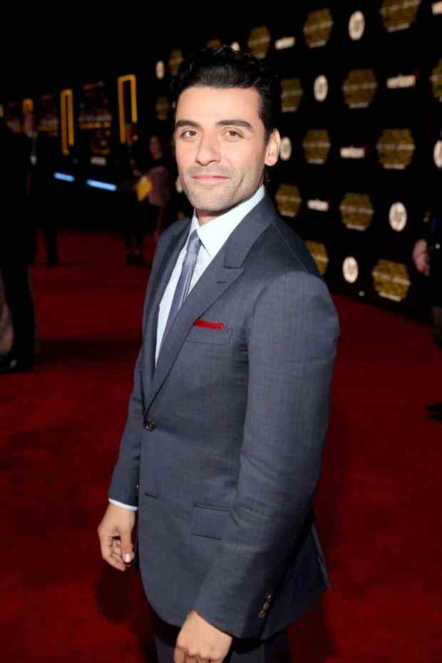 "HOLLYWOOD, CA - DECEMBER 14: Actor Oscar Isaac attends the World Premiere of ""Star Wars: The Force Awakens"" at the Dolby, El Capitan, and TCL Theatres on December 14, 2015 in Hollywood, California. (Photo by Jesse Grant/Getty Images for Disney) *** Local Caption *** Oscar Isaac"