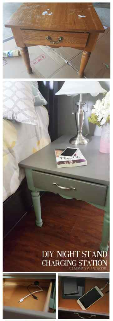 End Table Charging Station