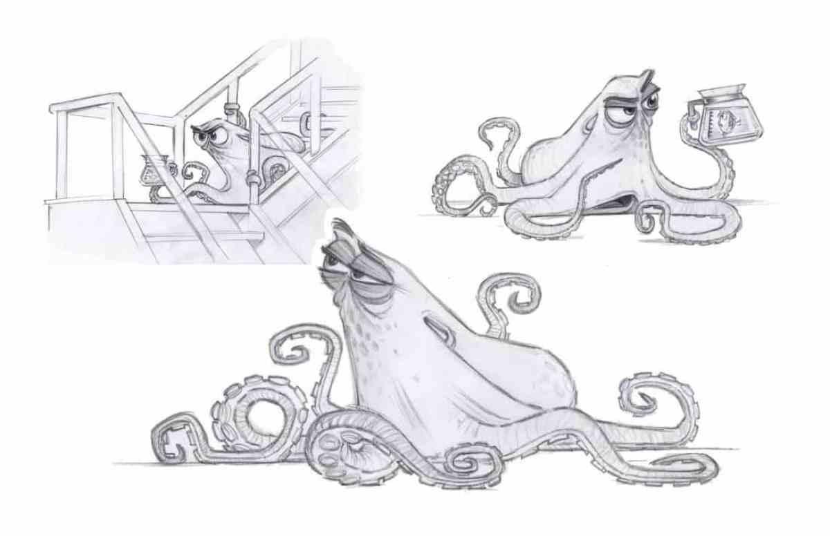 FINDING DORY – Hank Design (Concept Art) by Character Designer Jason Deamer. ©2016 Disney•Pixar. All Rights Reserved.
