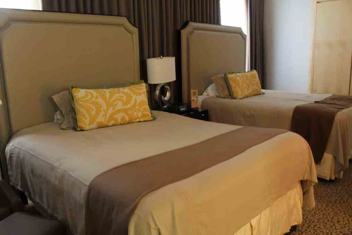 Two Queen beds in the adjacent bedroom (photo: Beeb Ashcroft)
