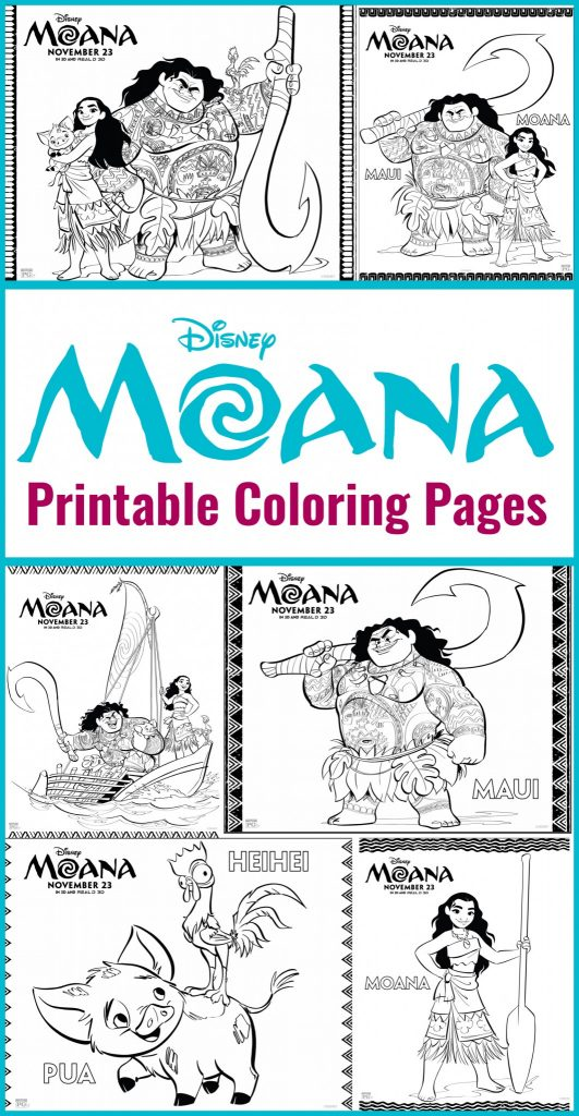 graphic relating to Moana Coloring Pages Printable known as Printables - Disneys Moana Coloring Sheets Existence She Incorporates