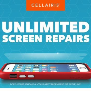 Get The Cellairis Bundle. A case, screen protector and unlimited screen repairs for three years – starting at $49. www.cellairis.com/bundle (PRNewsfoto/Cellairis)