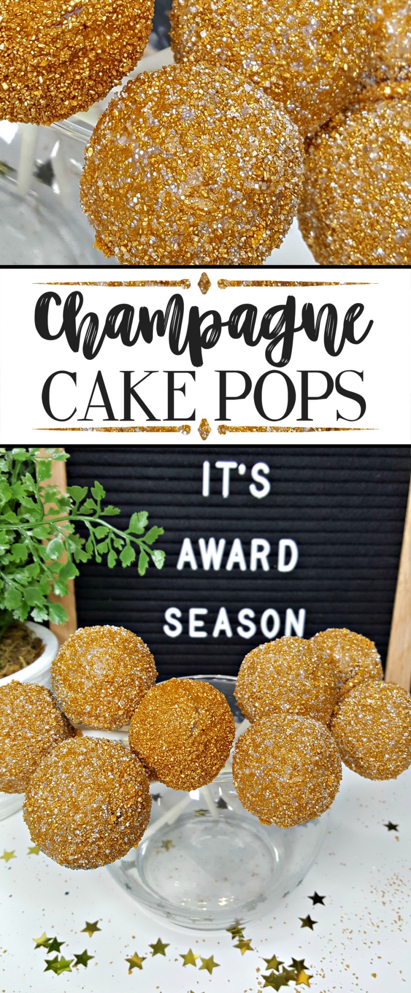 Champagne Cake Pops - PERFECT for all of those fun grown-up events you have! Weddings, Bridal Showers, Birthday Parties, Award Parties