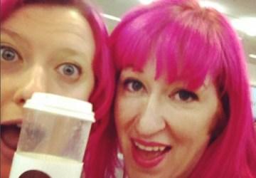 Pink hair twins