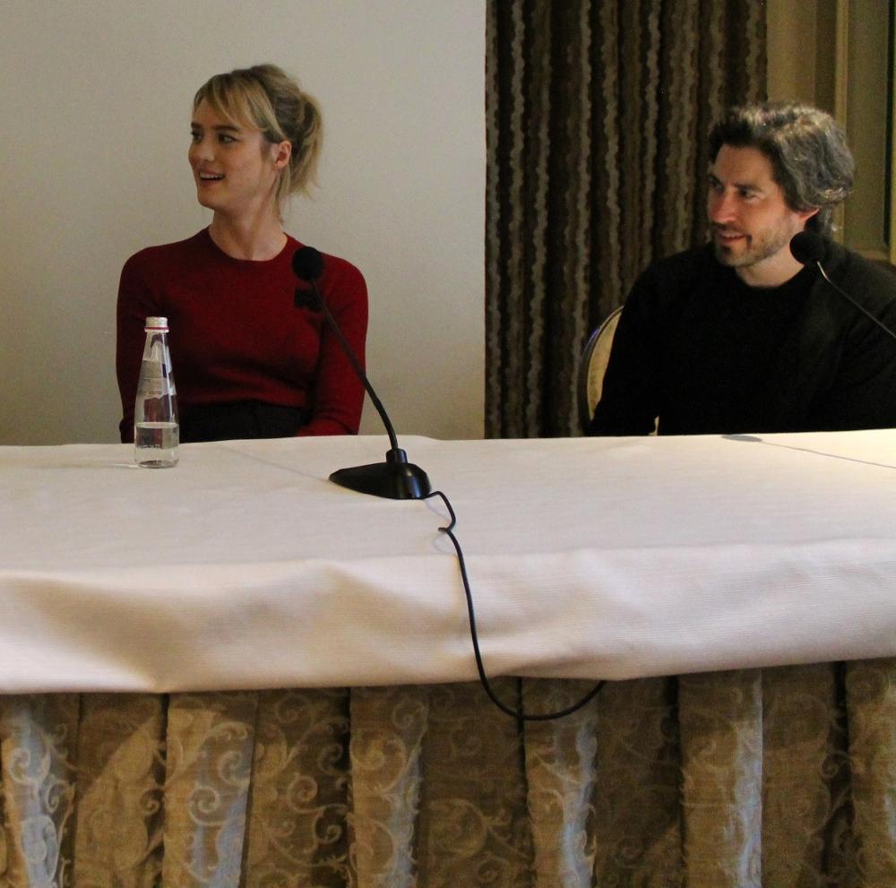 Mackenzie Davis and Jason Reitman