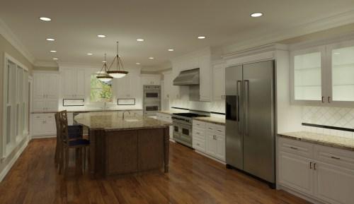 3D Kitchen Rendering by CastleView3D.com
