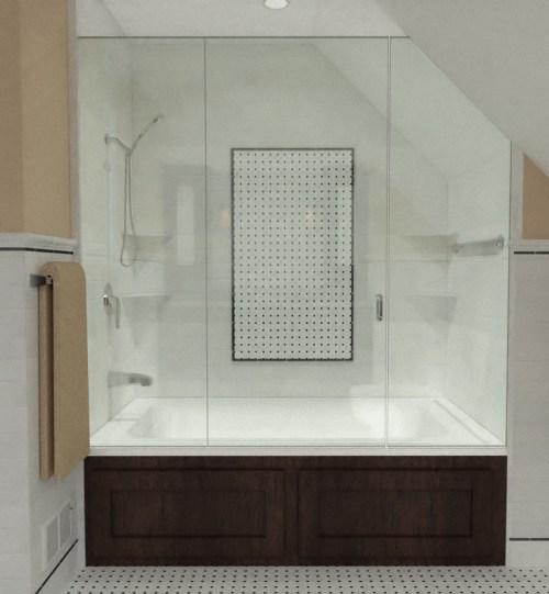 3D Bathroom Remodel Rendering by CastleView3D.com