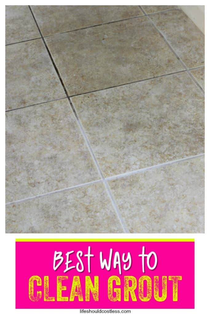 how to clean grout the easiest