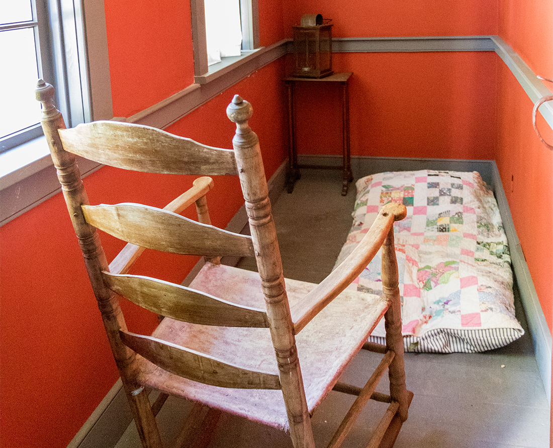 Inside Cossit House Museum birthing room. This museum is located in Sydney, Nova Scotia. Photo Credit: Wendy Nordvik-Carr©