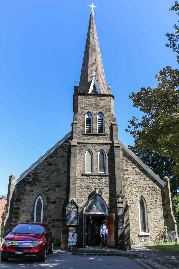 Saint George Church built in 1785 is the oldest building in Sydney, Nova Scotia.