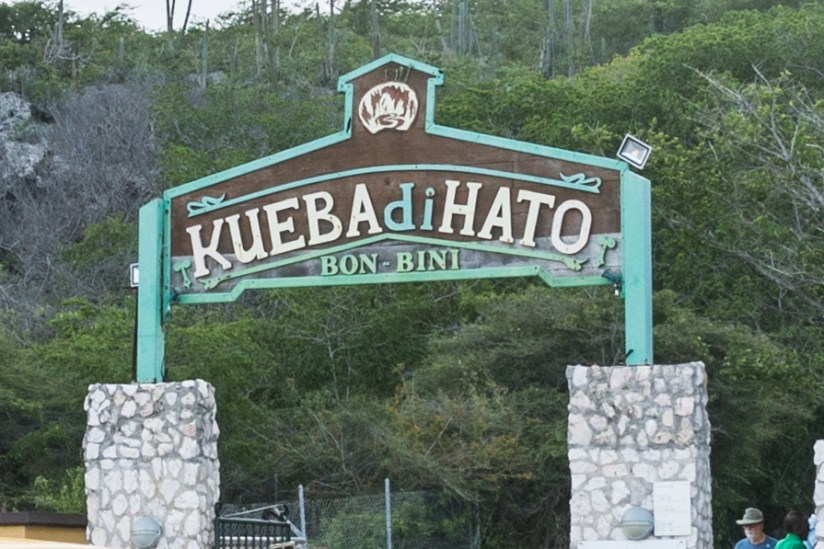 The entrance to the Hato Caves on the Caribbean island of Curaçao
