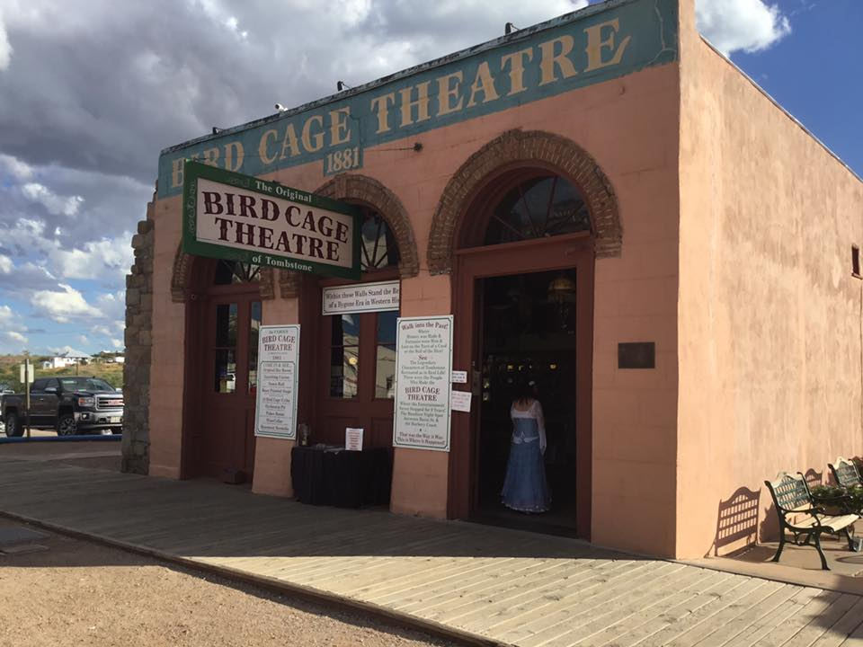 The original Bird Cage Theatre in Tombstone. Photo Courtesy of the Tombstone Chamber of Commerce.