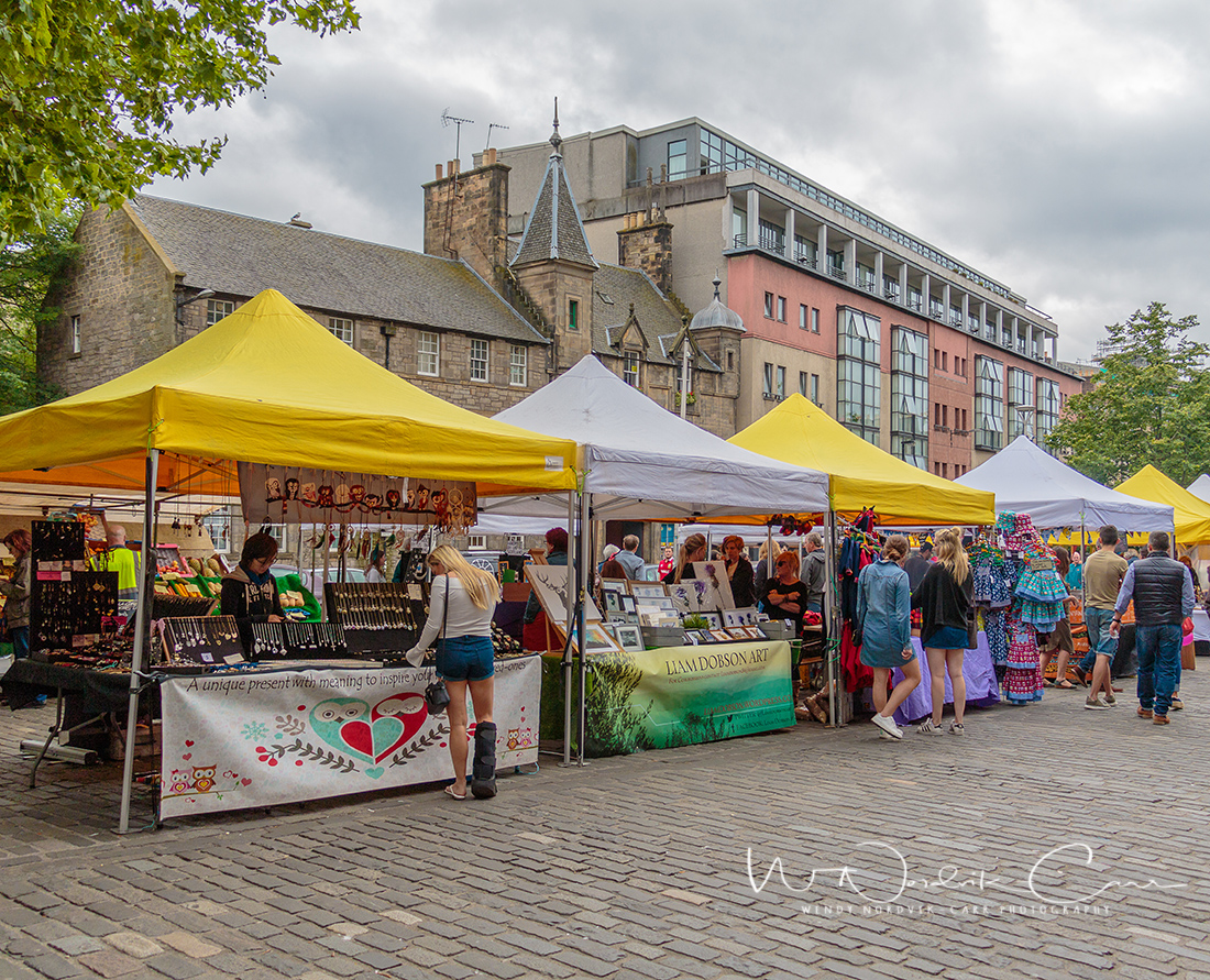 Visit the Grassmarket Farmers Market on Saturdays. Discover things to do in medieval Edinburgh. Explore Old Town and New Town along with the many museums, monument, memorials and galleries of this historic city. Photo Credit: Wendy Nordvik-Carr