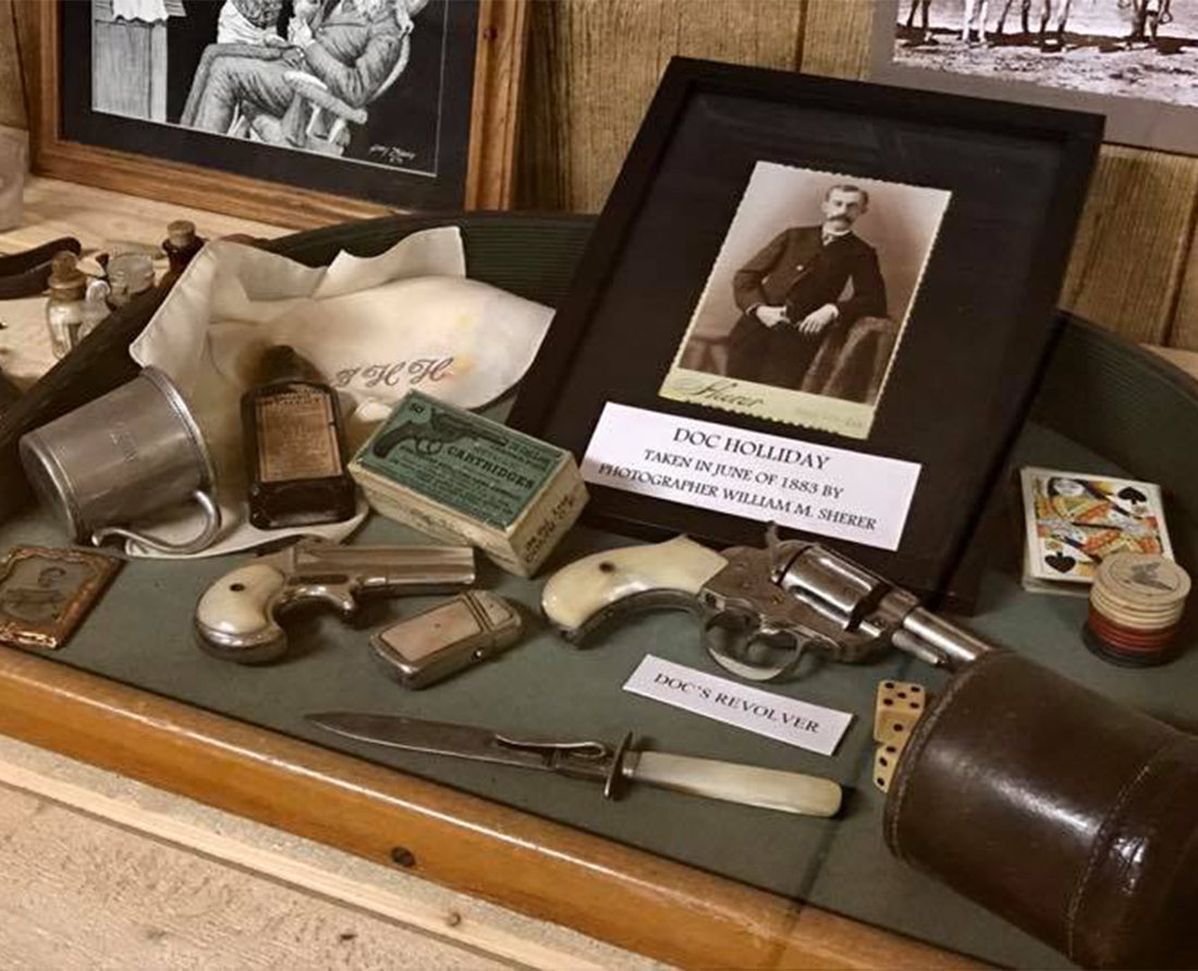 The Tombstone Gunfighter Museum Hall of Fame features Doc Holliday's revolver. Photo Courtesy of the Tombstone Chamber of Commerce.