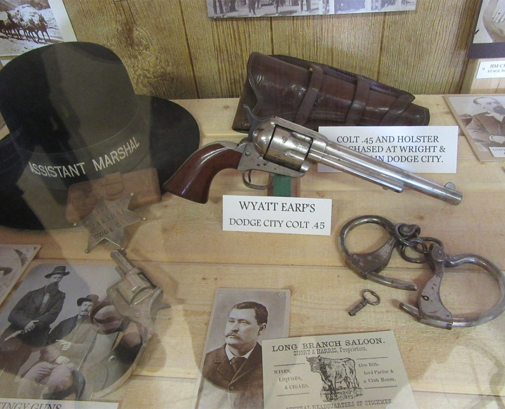 The Tombstone Gunfighter Museum features Wyatt Earp's Dodge City Colt. Photo Courtesy of the Tombstone Chamber of Commerce.