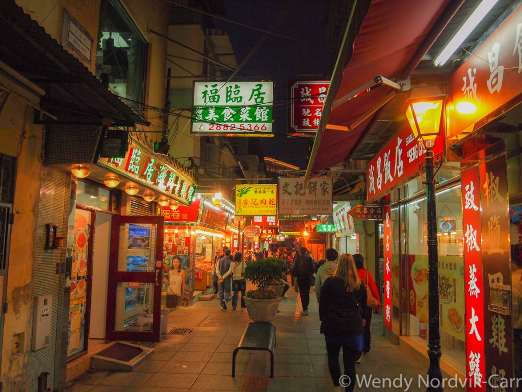 Taipa Island has a wonderful array of food and traditional Chinese shops in Macau, China Photo Credit: Wendy Nordvik-Carr.©