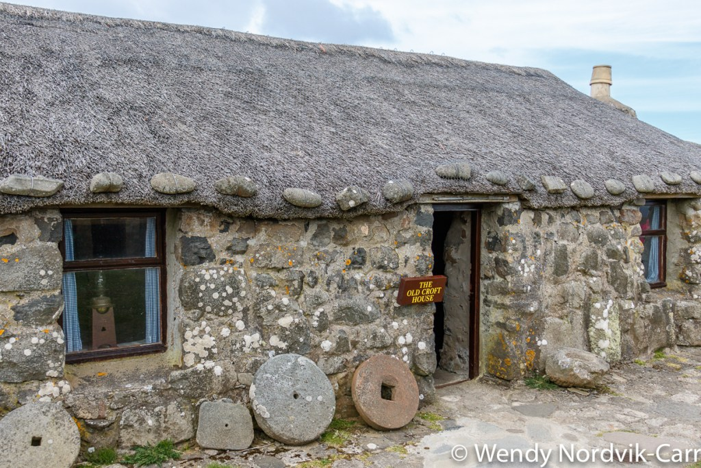Life on the Isle of Skye Scotland is demonstrated at the 19th-century Highland crofting village of the Isle of Skye Museum of Island Life. Explore the magical countryside of Isle of Skye, Scotland. Every turn of the narrow one track roads and trails provides a feast for the eyes.