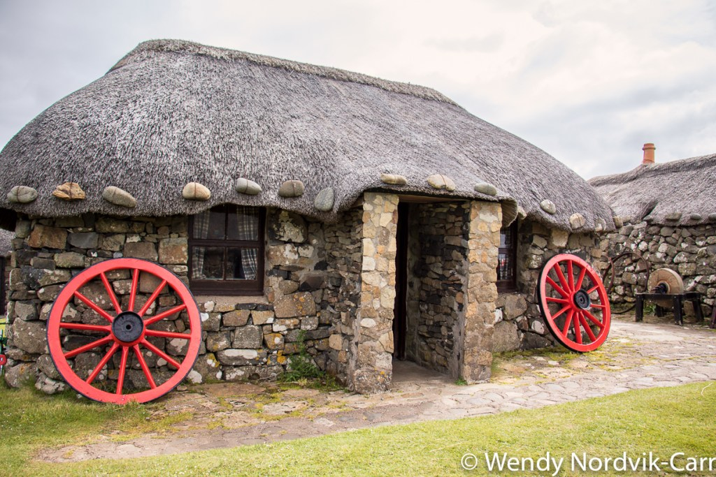 This incredible 19th century crofting village museum shows how crofters lived on the Isle of Skye 100 years ago. It is situated in an ideal location and has sweeping views of the ocean below. A croft is a small area of enclosed land used for farming purposes and is unique to northern Islands, Highlands and Hebrides of Scotland. Photo Credit: Wendy Nordvik-Carr