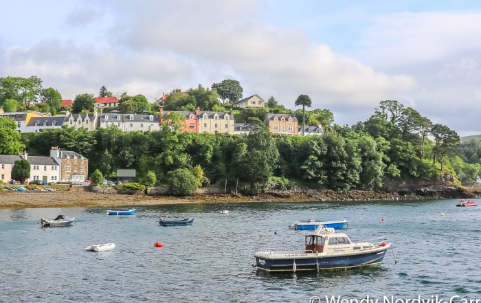 The Scottish town of Portree is a port of call for many cruise ships and a great place to start your discovery of the rugged countryside of Isle of Skye. Photo Credit: Wendy Nordvik-Carr