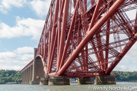 Forth Bridge is a famous Scottish landmark and UNESCO World Heritage Site. In 2016, it was voted the greatest man-made wonder in Scotland. Photo Credit: Wendy Nordvik-Carr©