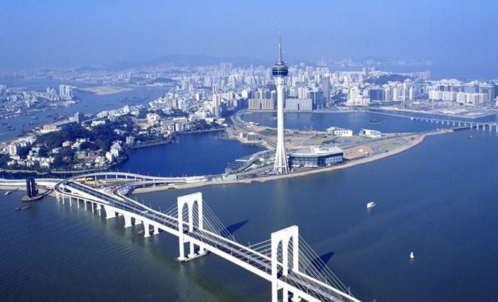 Incredible 360° views from the Macau Tower, Macau, China.