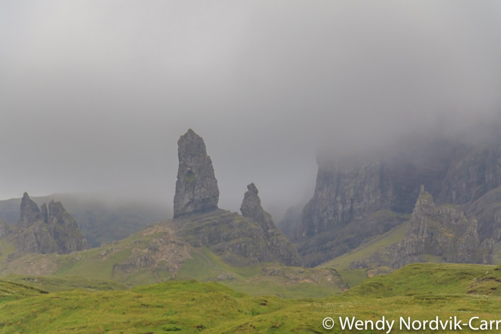 Old Man of Storr is one of the most popular destination on the Isle of Skye because of its incredible landscape on the Trotternish Ridge. Photo Credit: Wendy Nordvik-Carr