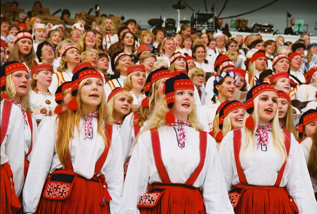 Traditional costumes worn at the famous Estonian Song Festival. Photo Credit: Visit Estonia - Jaak Nilson