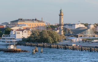 Travel Germany - Top things to do in Warnemünde. The historic 1897 lighthouse in the Baltic Sea resort of Warnemünde, Germany. Photo credit: Wendy Nordvik-Carr