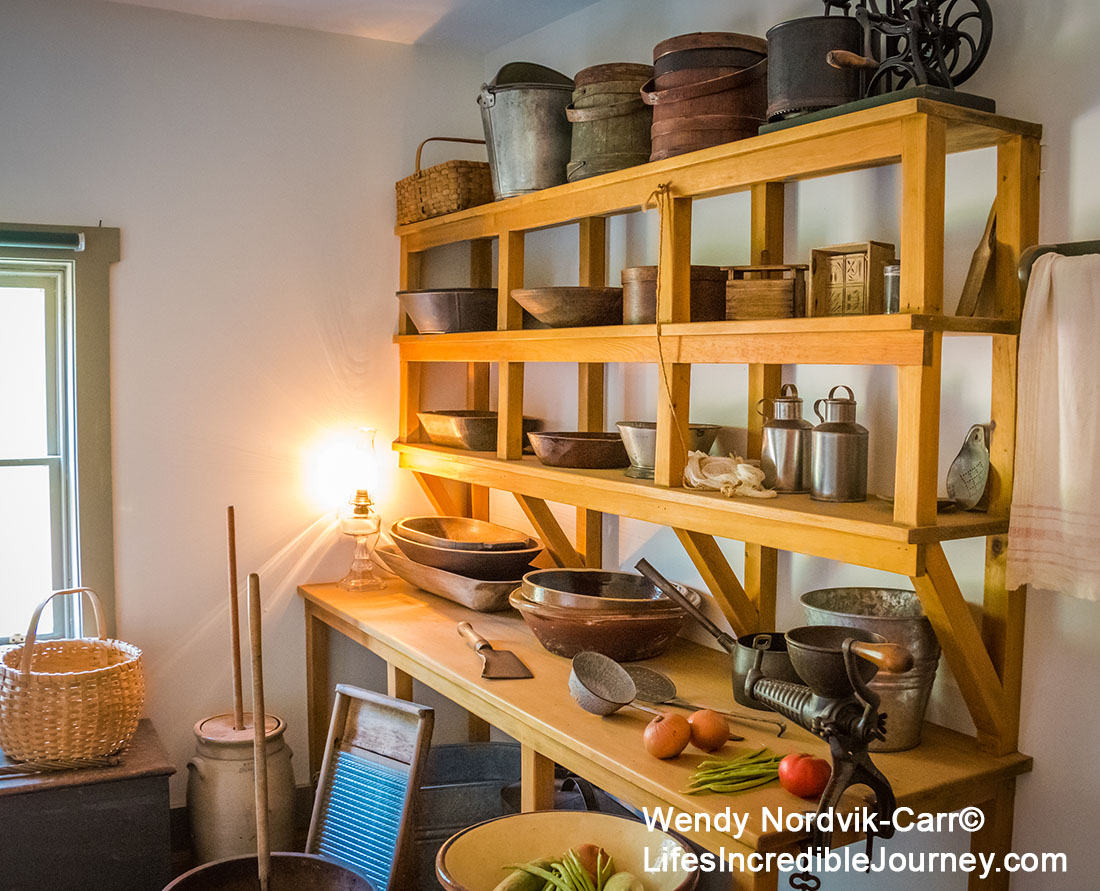 19th century kitchen furnishings inside PEI Green Gables. Photo Credit: Wendy Nordvik-Carr©