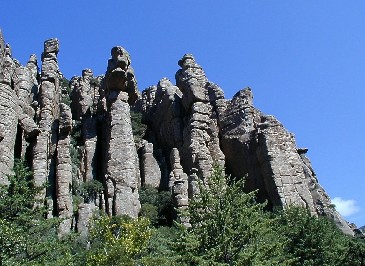 Discover rhyolite rock pinnacles in Chiricahua National Park, Arizona.