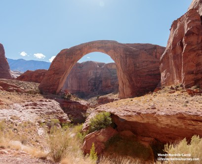 How to get to Rainbow Bridge from Lake Powell, Arizona. Photo Credit: Wendy Nordvik-Carr©