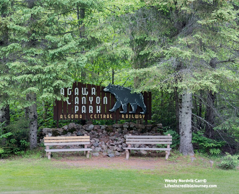 The entrancee to breathtaking Agawa Canyon Park. Photo Credit: Wendy Nordvik-Carr©
