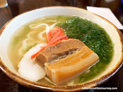 Okinawa Soba - Unique must try foods Okinawa Japan. Photo Credit: Melanie, LifesIncredibleJourney.com©