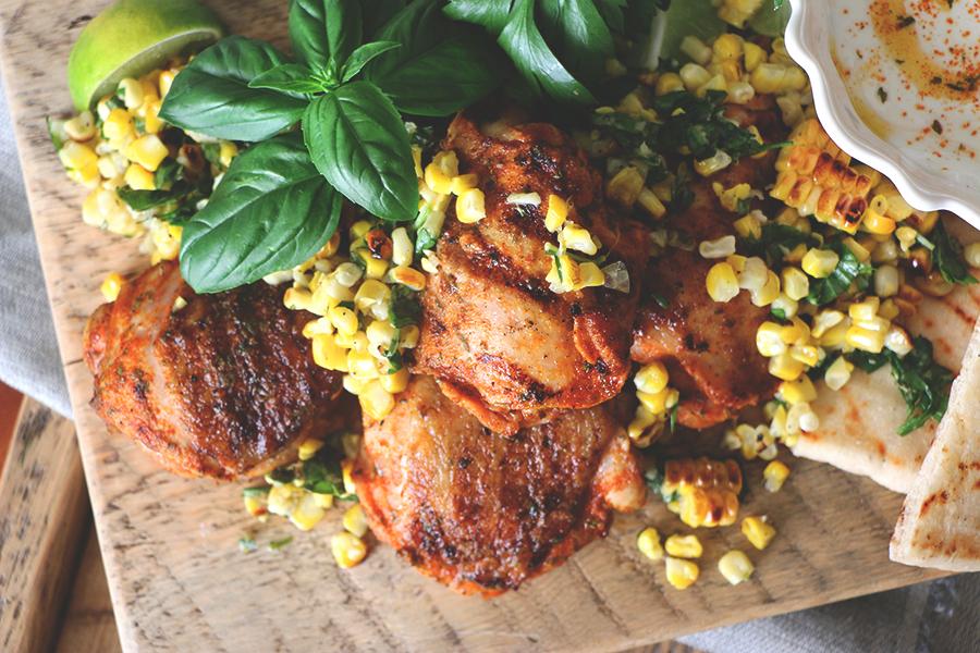 Delicious handmade, homegrown recipes - Lepp Farm Market - Peri Peri Chicken with Corn Salsa