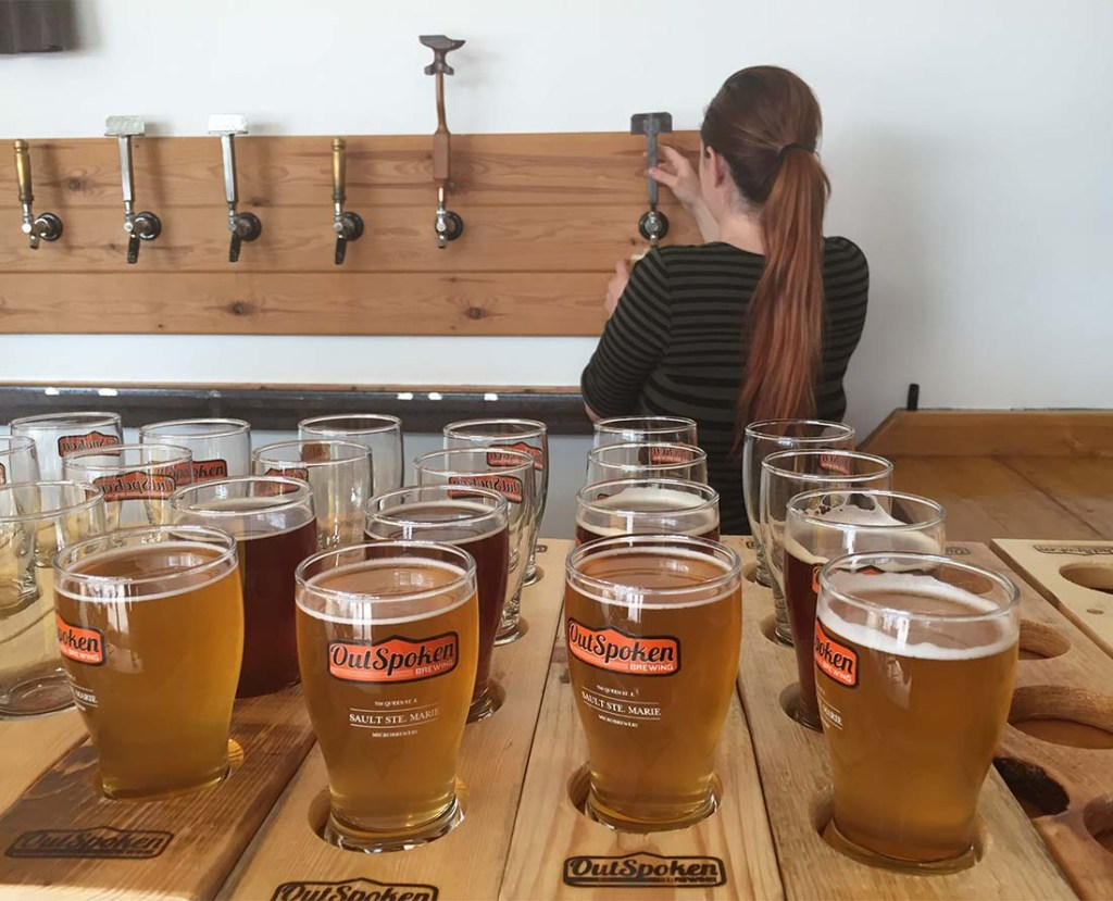 Craft beer at Outspoken Brewing in Sault Ste. Marie
