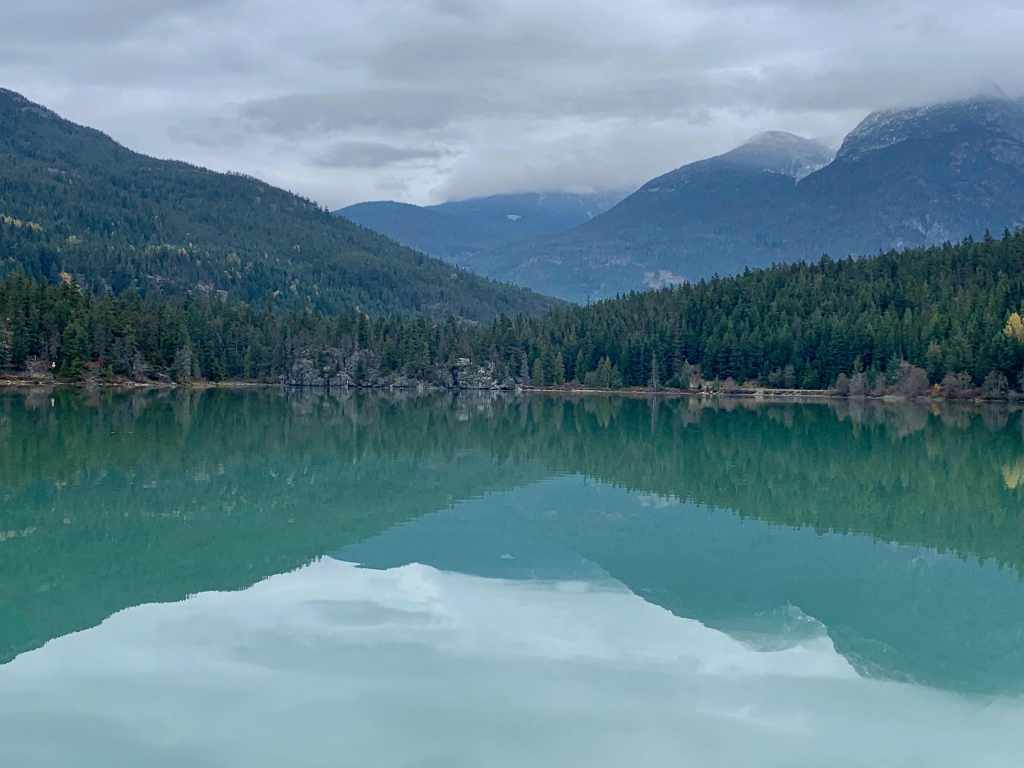The emerald green waters of Green Lake in Whistler along the Sea-to-Sky Highway. Photo Credit: Wendy Nordvik-Carr©
