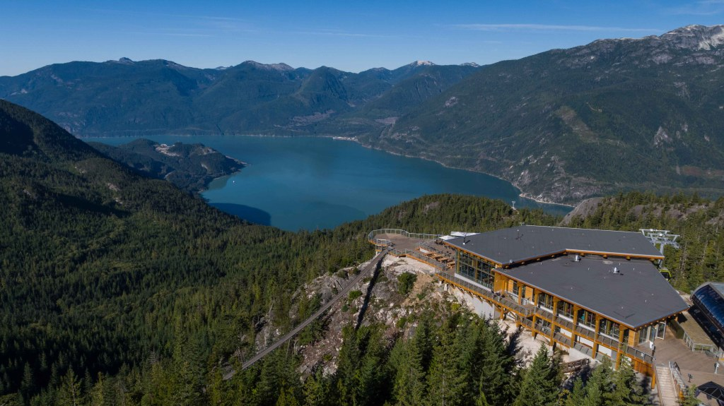 Top things to do near Vancouver - Aerial Summit Lodge - Sea to Sky Gondola opens. Photo Credit: Topo Films